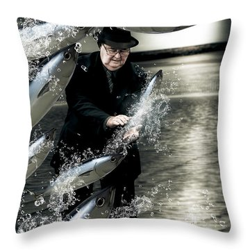 Plenty Of Fish In The Sea Throw Pillow by Jorgo Photography - Wall Art Gallery