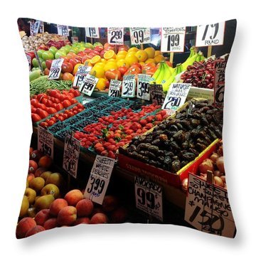 Plethora Of Fruit Throw Pillow