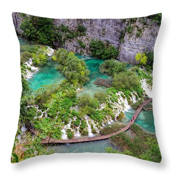 Plitvice Lakes National Park Throw Pillow