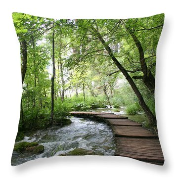 Plitvice Lakes National Park Throw Pillow