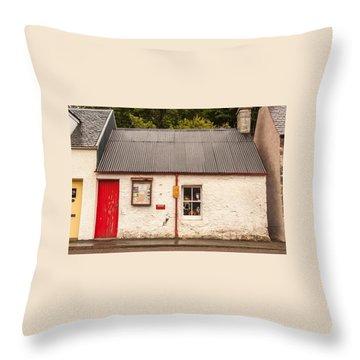 Plockton Cottage Throw Pillow