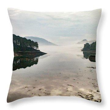 Plockton, Highlands, Scotland,  Throw Pillow