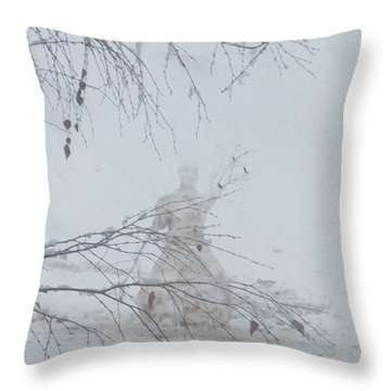 Throw Pillow featuring the photograph Plongee Dans La Neige by Marc Philippe Joly