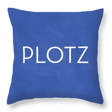 Plotz- Art By Linda Woods Throw Pillow
