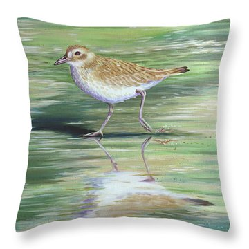 Plover Reflections Throw Pillow