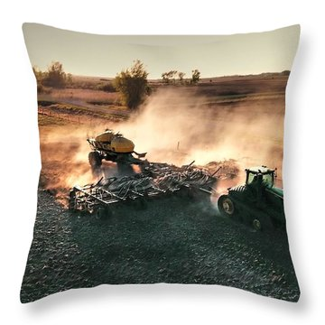 Plow The Fields And Scatter  Throw Pillow