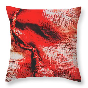 Plucking Out The All Seeing Eye Throw Pillow