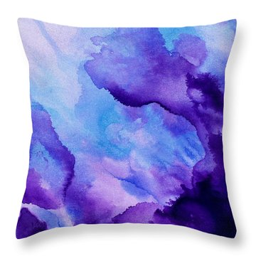 Plum And Blue Throw Pillow