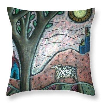 Plum Blooms Throw Pillow by Karla Gerard