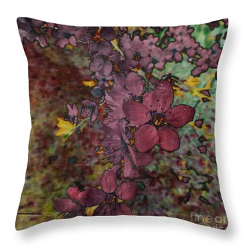 Throw Pillow featuring the photograph Plum Blossom by LemonArt Photography