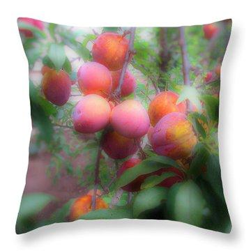 Plum Delight Throw Pillow
