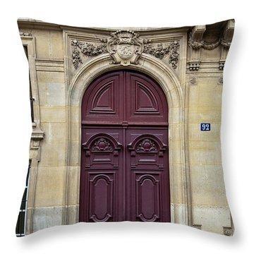 Plum Door - Paris, France Throw Pillow