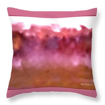 Plum Fairies Throw Pillow