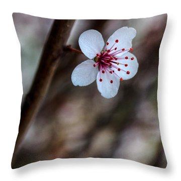 Plum Flower Throw Pillow
