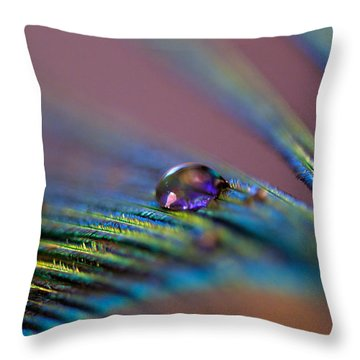 Plum Heart Throw Pillow
