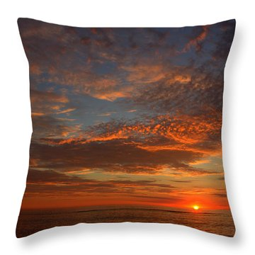 Plum Island Sunrise Throw Pillow