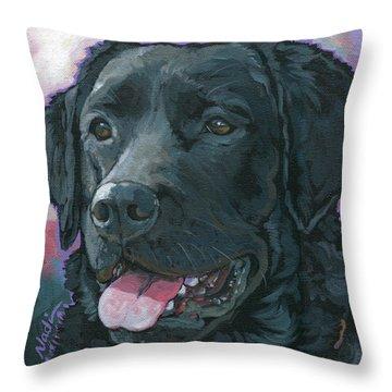 Plum Throw Pillow by Nadi Spencer
