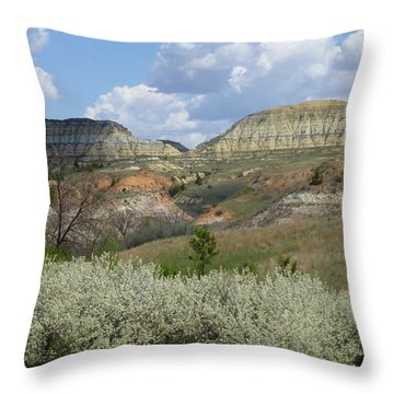 Plum Thicket Near The Burning Coal Vein Throw Pillow