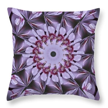 Throw Pillow featuring the photograph Plum Tree Kaleidoscope by Bill Barber