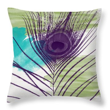 Plumage 2-art By Linda Woods Throw Pillow