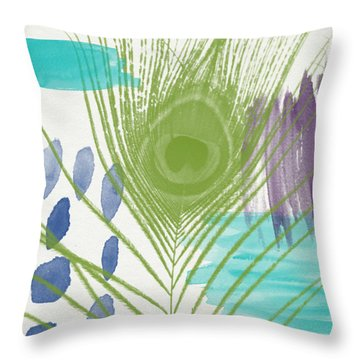 Plumage 4- Art By Linda Woods Throw Pillow by Linda Woods