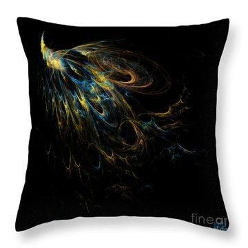 Plumage Throw Pillow by Alina Davis