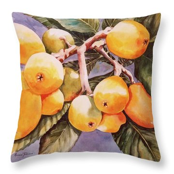 Plumb Juicy Throw Pillow by Roxanne Tobaison