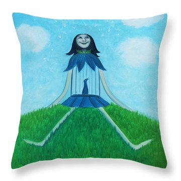 Plume Joy Throw Pillow