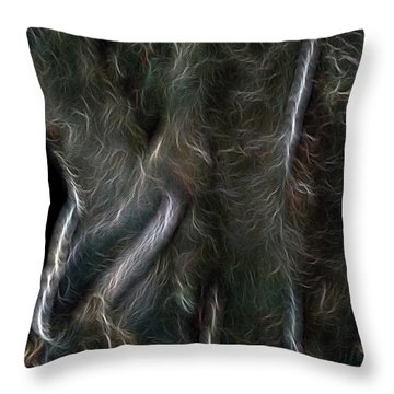 Plumed Serpent Throw Pillow by William Horden