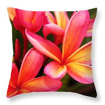 Plumeria - Pretty Pink Throw Pillow