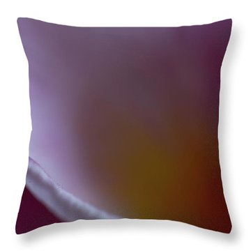 Throw Pillow featuring the photograph Plumeria Edge by Roger Mullenhour