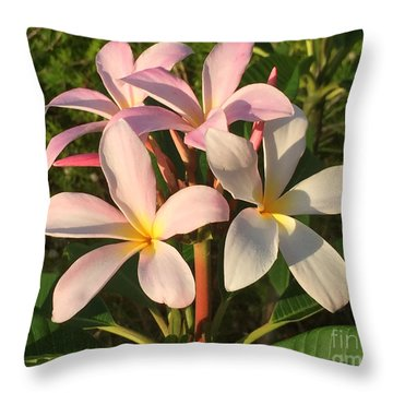 Throw Pillow featuring the photograph Plumeria Heaven by LeeAnn Kendall