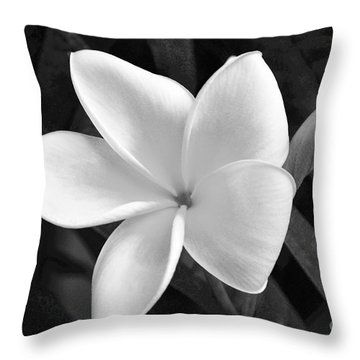 Plumeria In Monochrome Throw Pillow