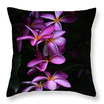 Plumeria Light Throw Pillow