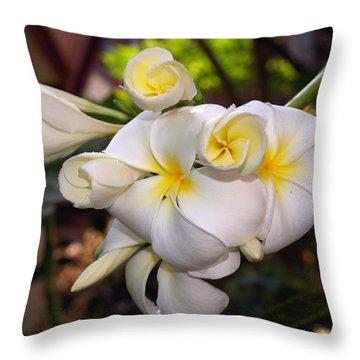 Plumeria Portrait Throw Pillow