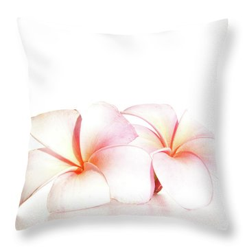 Throw Pillow featuring the photograph Plumeria by Roger Mullenhour
