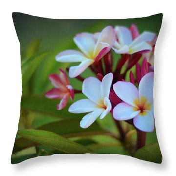 Throw Pillow featuring the photograph Plumeria Sunset by Kelly Wade