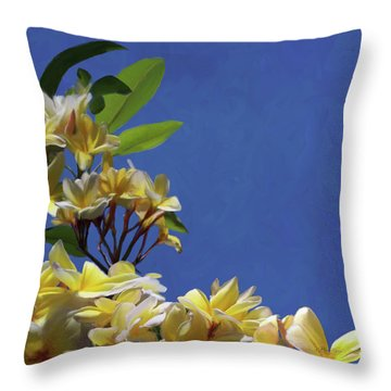 Plumeria_01 Throw Pillow