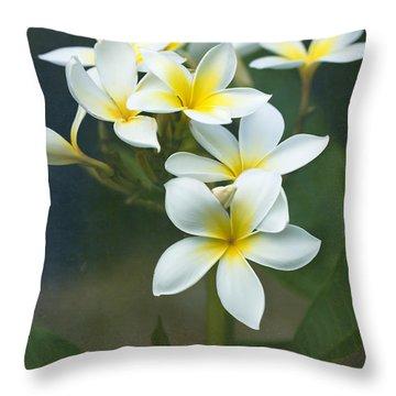 Plumerias On A Cloudy Day Throw Pillow