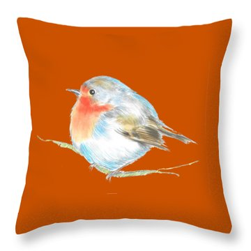 Plump Is Good  Throw Pillow by Herb Strobino