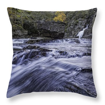 Throw Pillow featuring the photograph Plunge Basin Linville Falls by Ken Barrett
