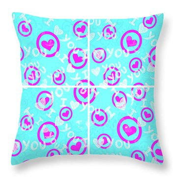 Plus D'amour Throw Pillow