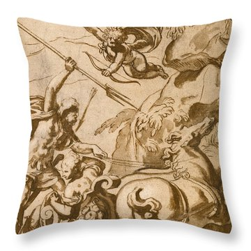 Pluto Abducting Persephone Throw Pillow