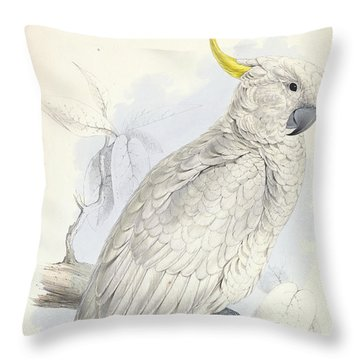 Plyctolophus Galeritus. Greater Sulphur-crested Cockatoo. Throw Pillow