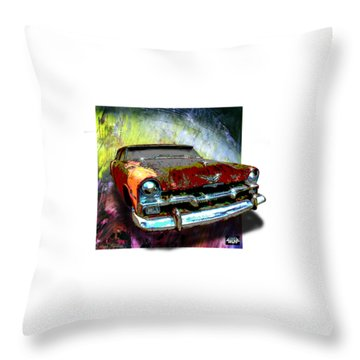 Plymouth From The Past Throw Pillow
