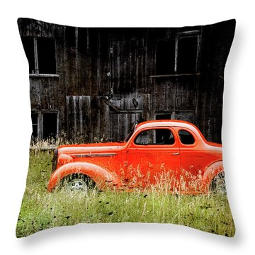 Plymouth Hot Rod Throw Pillow