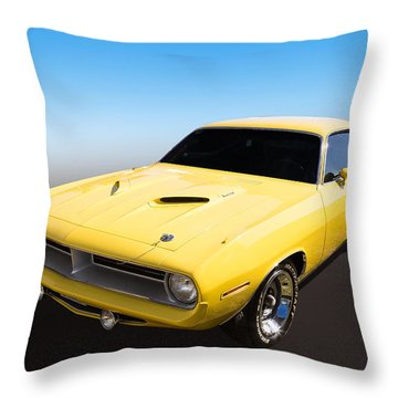 Throw Pillow featuring the photograph Plymouth Muscle by Keith Hawley