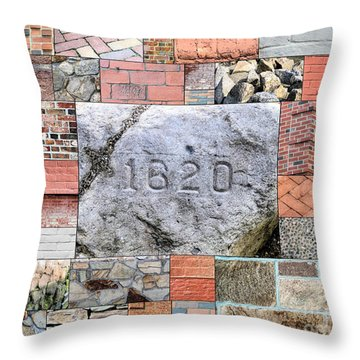 Plymouth Rocks And Bricks Throw Pillow