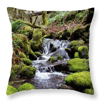 Pnw Forest Throw Pillow