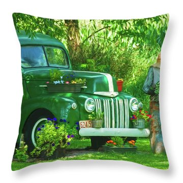 Po Boy Acres Throw Pillow by Trey Foerster